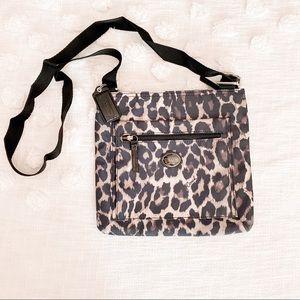 COACH Leopard Print Crossbody Bag Black/Grey